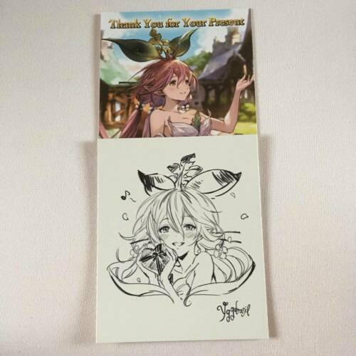 Granblue Fantasy Yggdrasil Valentine Card and Shikishi Limited Japan Authentic