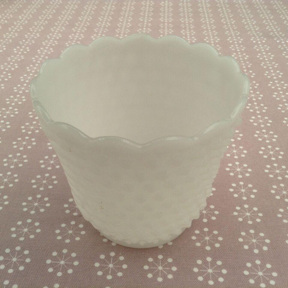 Urtepotte skjuler / vase opaline glas