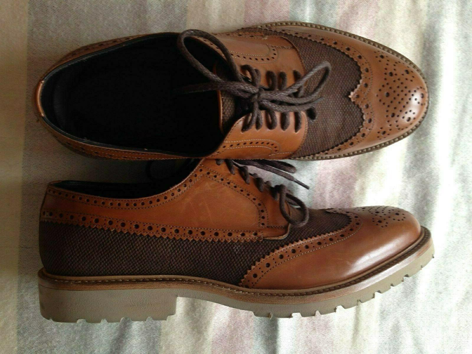 Vibram Lavorazione a Mano herren Schuhe Neu Gr.45