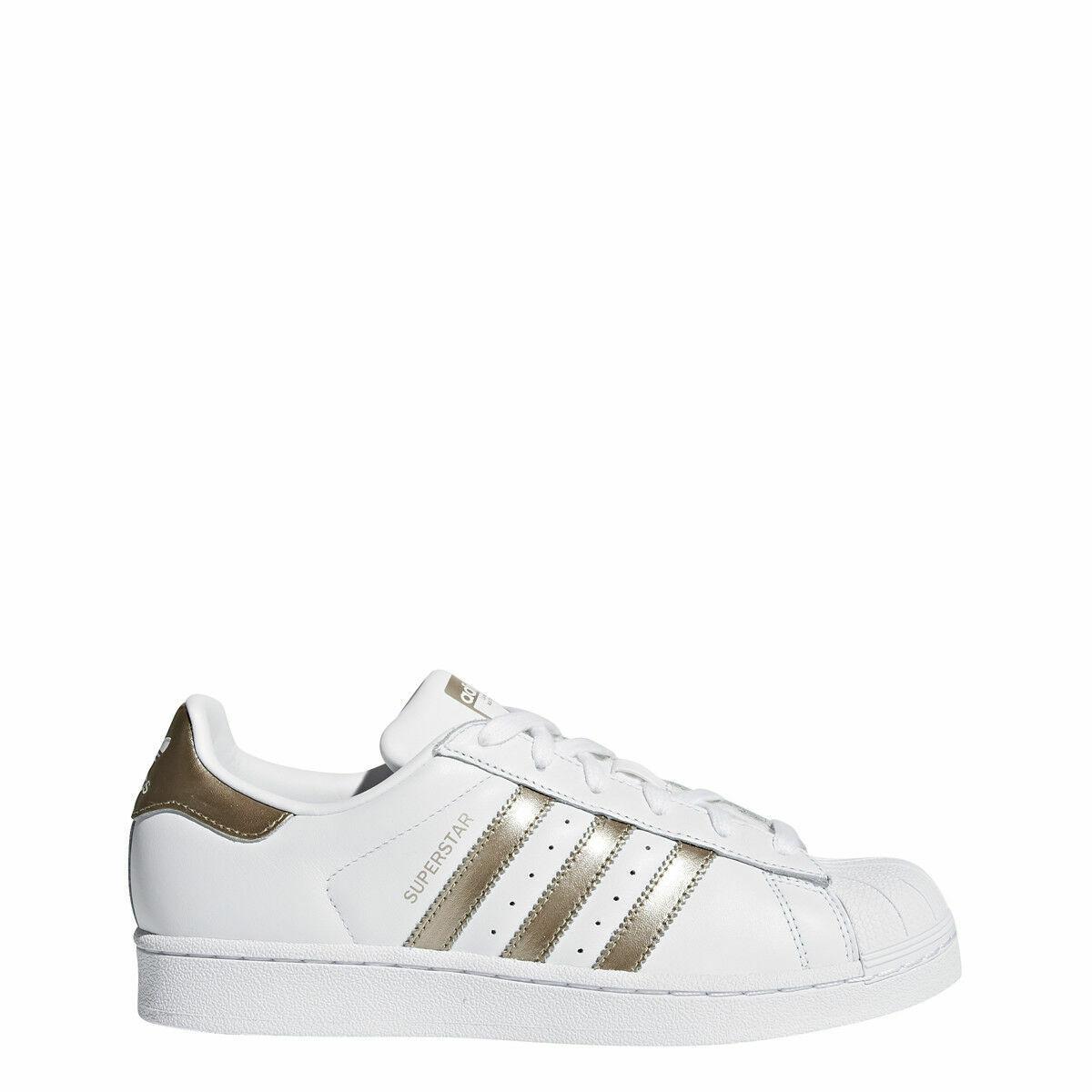 New Adidas Women's Originals Superstar Shoes (CG5463) White//Cyber Metallic