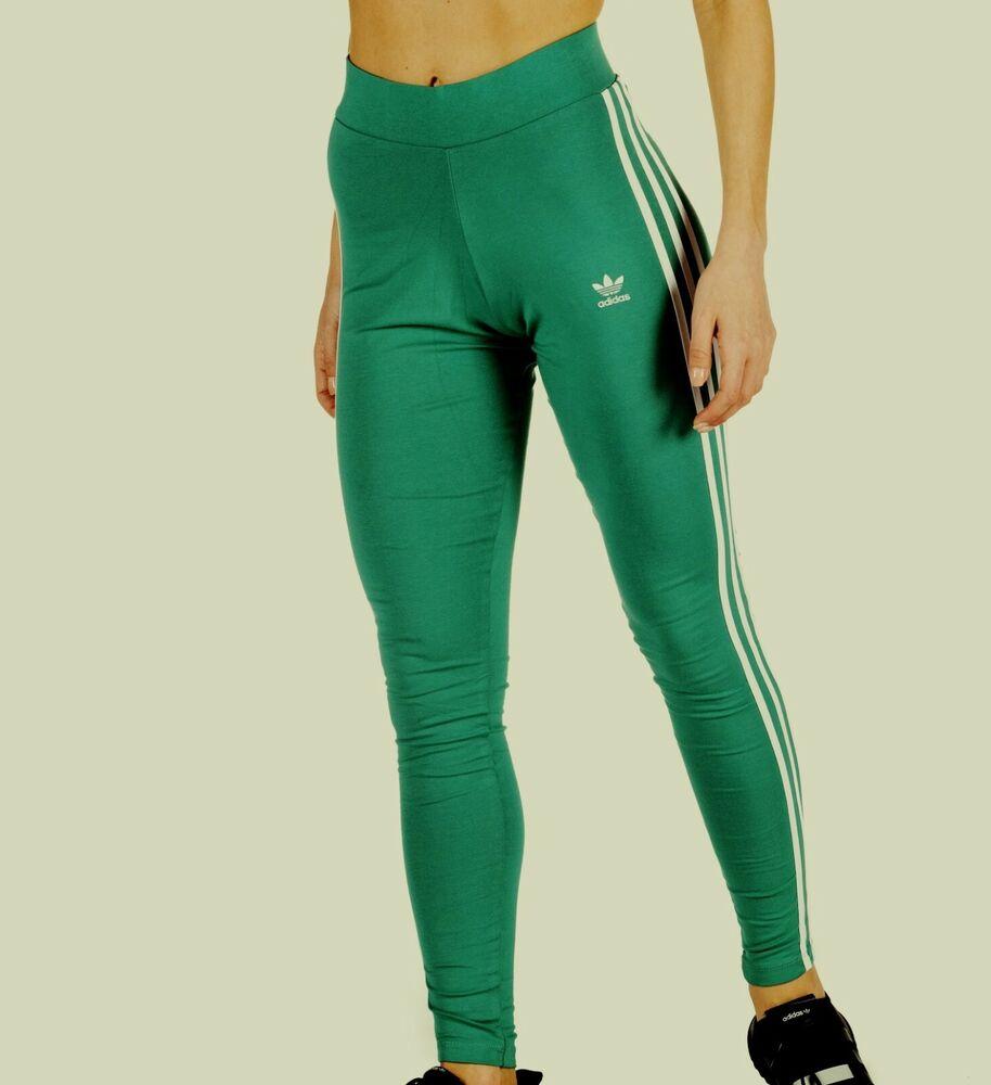 Adidas Originals 3 Rayures Legging Taille Haute-uk 14,16,18 Bnwt 3 Dernier