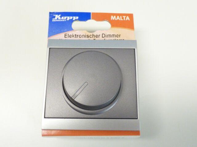 Kopp Malta Druck-//Wechsel-Dimmer Drehschalter Schalter 40-400 W//VA silber NEU