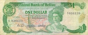 Belize-1-Dollar-1983-P43-Free-to-Combine-Low-Shipping
