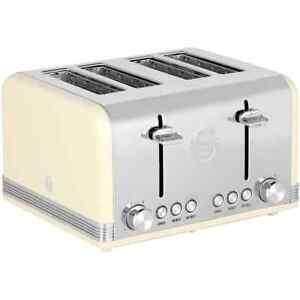 Swan-ST19020CN-Retro-4-Slice-Toaster-Cream
