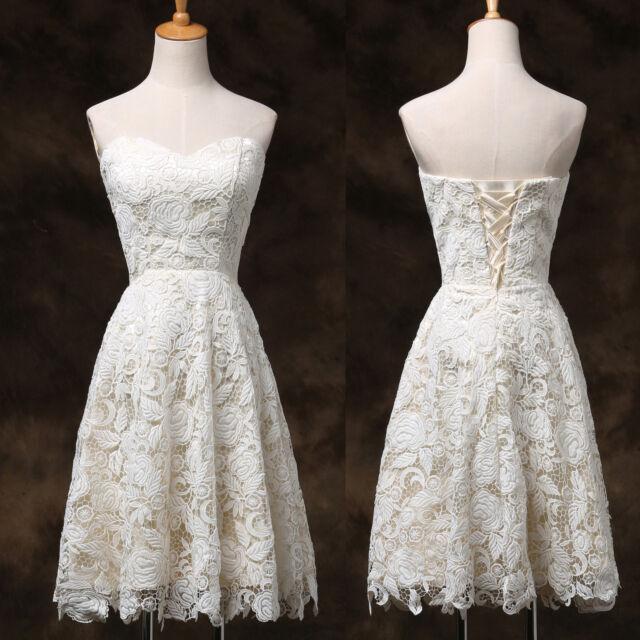APPLIQUE Vintage 50S short Bridesmaid Evening Formal Party Gown Dress