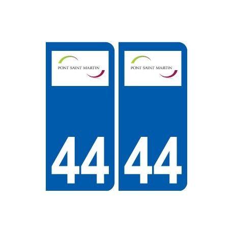 44 Pont-Saint-Martin logo ville autocollant plaque stickers droits