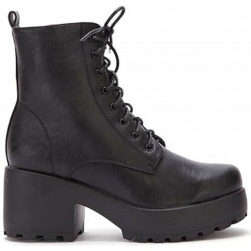 LADIES BLACK LACE UP CHUNKY BLOCK HIGH HEEL MILITARY BIKER ANKLE BOOTS SHOES 3-8