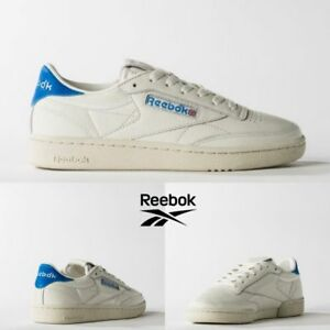 2388fc7f3bd Reebok Classic Club C 85 TG Vintage Shoes White Blue BS7032 SZ 5 ...