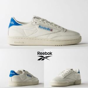 93b60fa149b Reebok Classic Club C 85 TG Vintage Shoes White Blue BS7032 SZ 5 ...