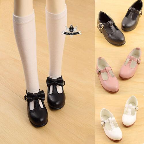1//3 BJD Shoes SD Shoes Supper Dollfie bow Flat Black shoes Dollmore Luts AOD DZ