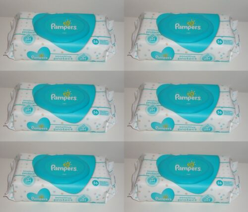 6x Pampers sensitive protect 56er Feuchttücher 0,07€ je Tuch
