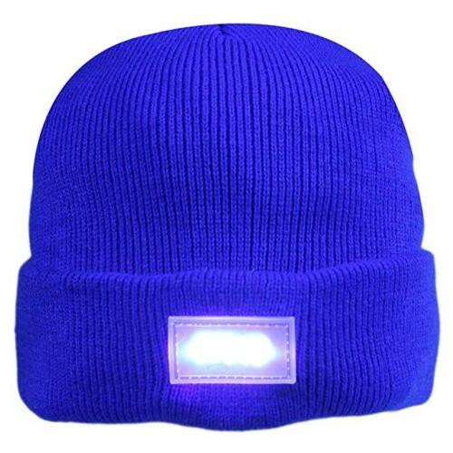 NEW 5-LED Light Head Cap Warmer Beanie Hat For Outdoors Sports Hunting Camping