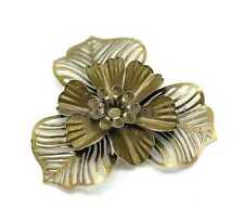 20 Bronze Tone Filigree Flower Wraps Connector Embellishments Findings 47x47mm