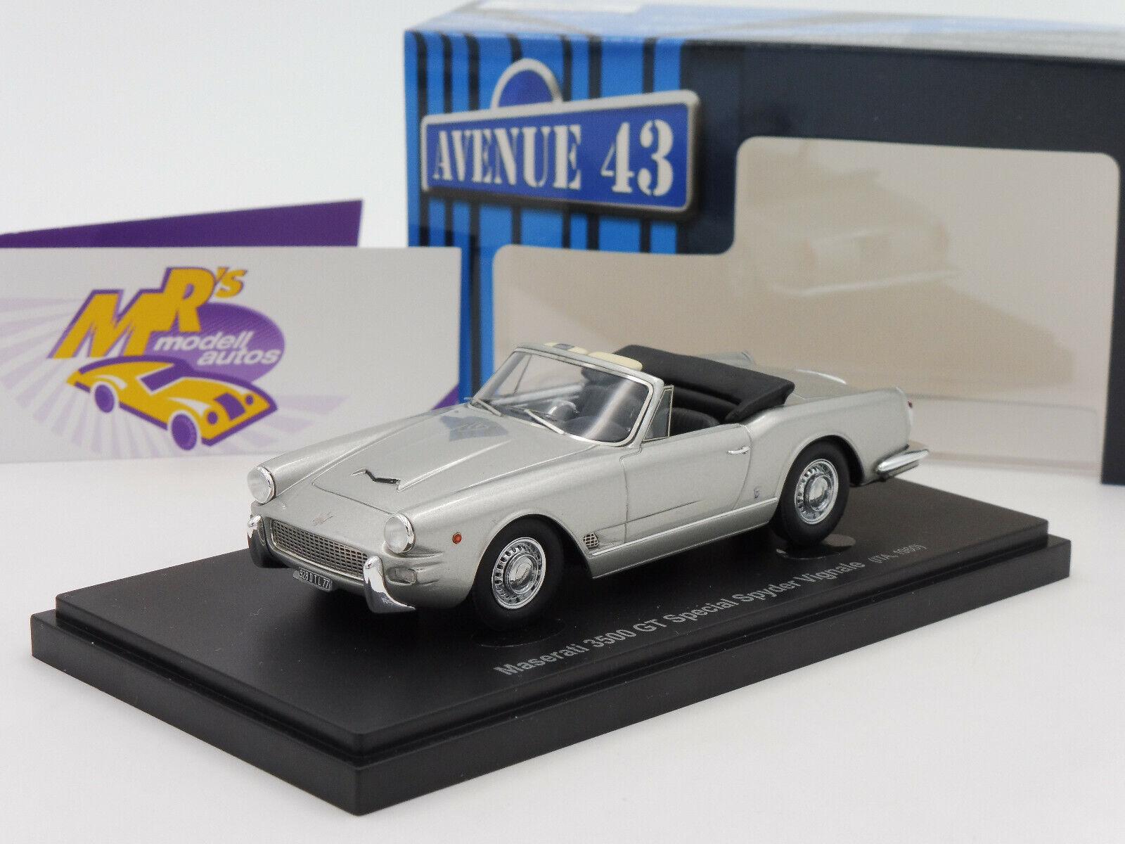 bilkult Avenue 43 6019 Maserati 3500 GT Spider Vig.Bji.1960 silver 1 43 NEU