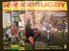 Joblot Of 5 RUGBY WORLD & POST AUG-DEC 1985