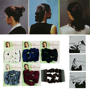 New-Magic-comb-Stretch-Velvet-Hair-Head-Comb-Double-Clips-Women-Gift-USA-Ship