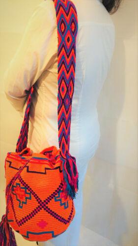 Bolsas de puro Bolsa Multicol Mochila bandolera a mano Algodón hecha tejidas Wayuu Verano CAwd0wxpq