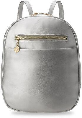 stilvoller Damen - Rucksack Damentasche praktische Eleganz silber