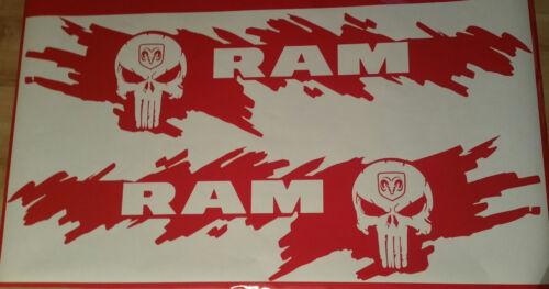 Dodge RAM Punisher rot glänzend weiß matt oder schwarz matt