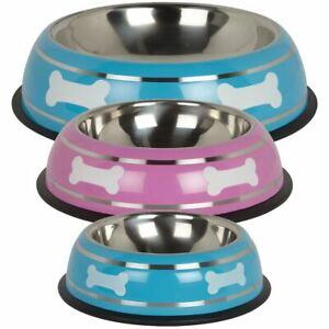 Stainless-Steel-Metal-Non-Slip-Dog-Puppy-Pet-Animal-Feeding-Food-Water-Bowl-Dish