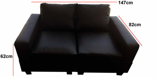 New PU Leather Sofa Lounge Suite Furniture 2 piece sofa Set Brand New