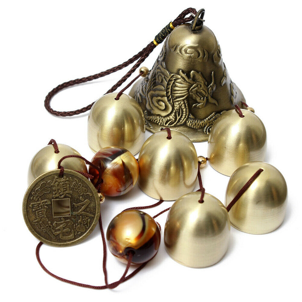 Metal Wind Chimes Copper Bells Outdoor Garden Hanging Ornaments Decor Feng Shui