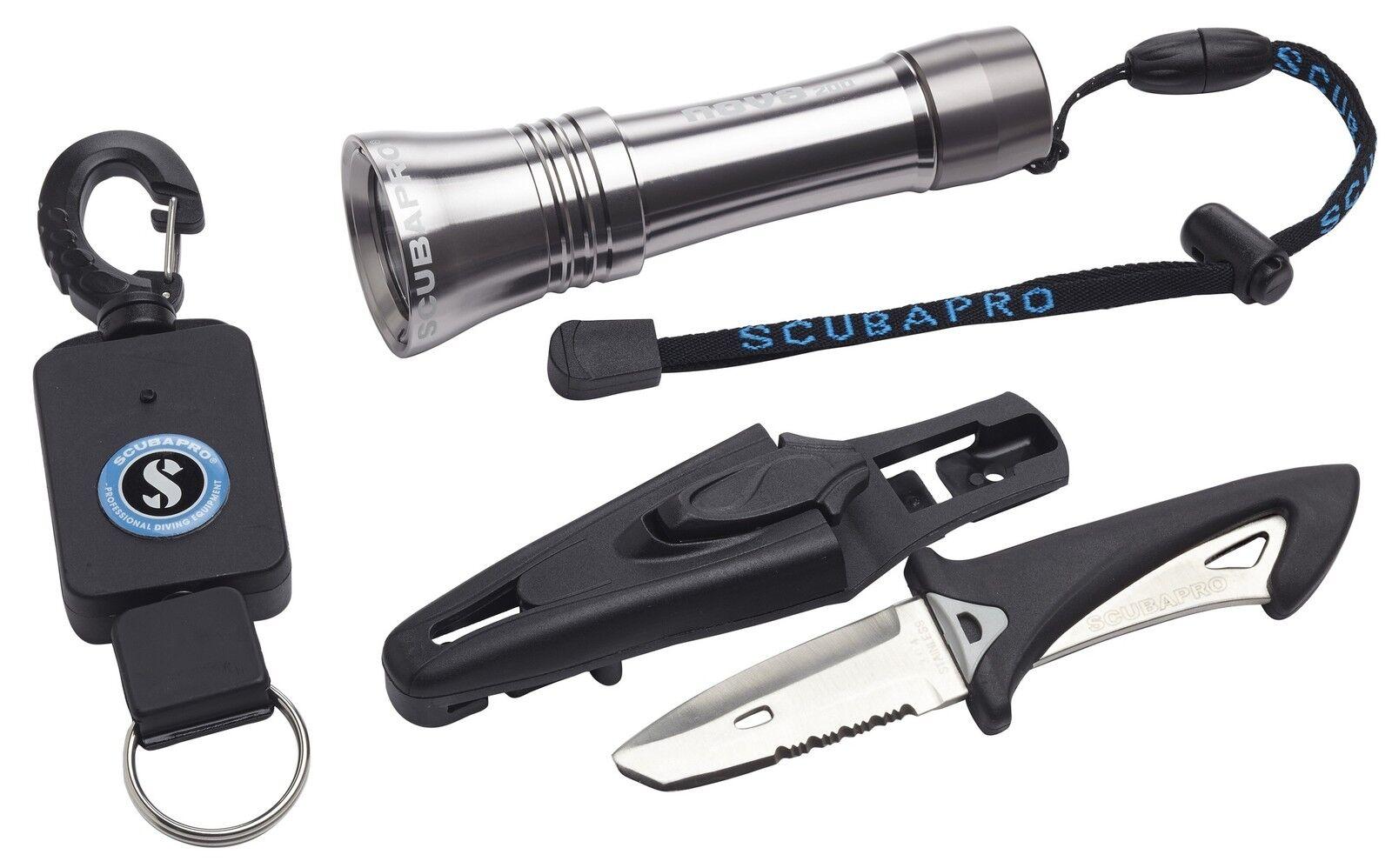 Scubapro Jacket Zubehör-Kit Accessory Kit Taucherlampe, Messer, Retractor