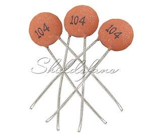 500pcs NEW 50V Ceramic Disc Capacitors DIP 100nF 0.1uF 104pF