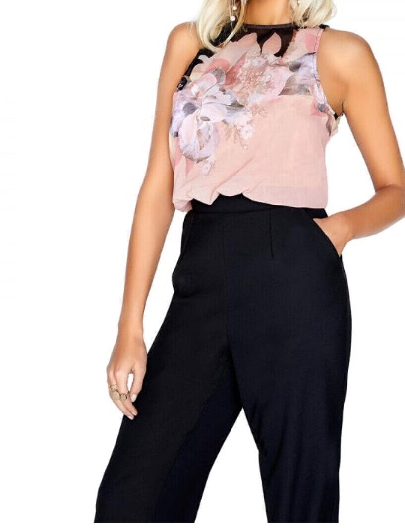 Little Mistress print jumpsuit UK size 6 BNWT