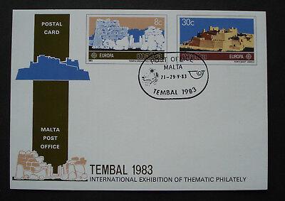 Aufrichtig Malta 1983:ganzsache Der Mn 680/681 Zur Tembal '83 Basel/schweiz Rare! Direktverkaufspreis