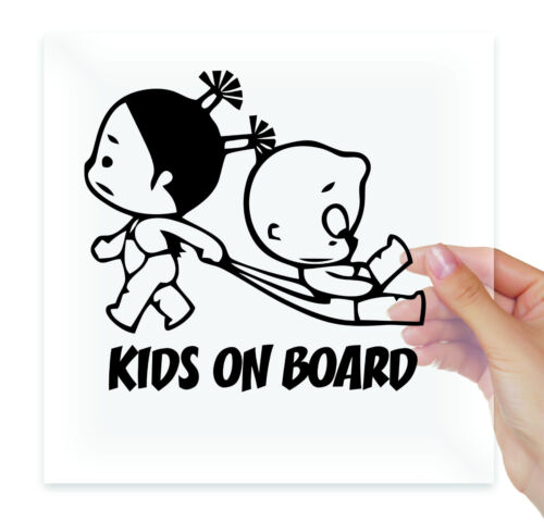KIDS ON BOARD INSIDE Baby Funny Vinyl Stickers Decal Car Auto Glass Bumper Truck