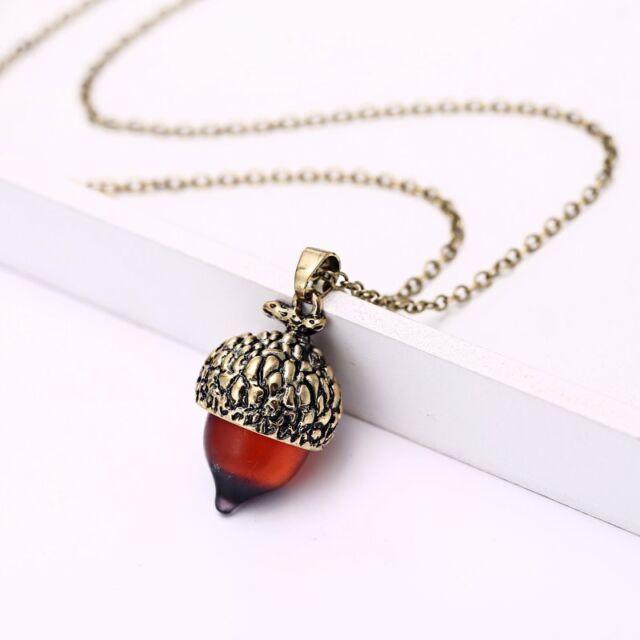 Vintage charm nut tiny acorn pendant necklace chain jewelry lady vintage charm nut tiny acorn pendant necklace chain jewelry lady girl gift party aloadofball Gallery