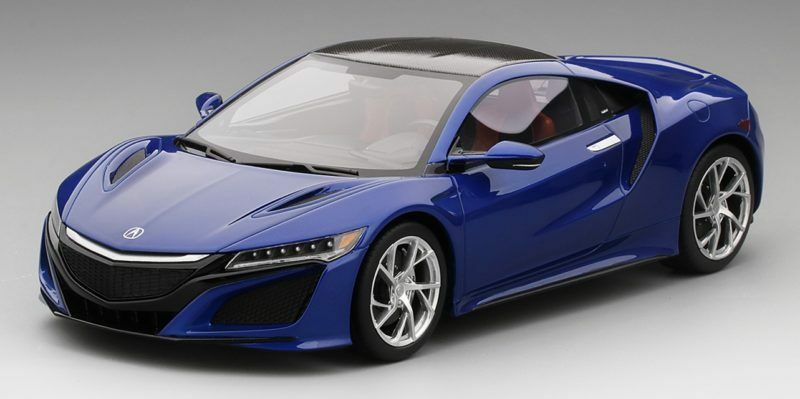 Acura Nsx Nouvelle blu Pearl Top Speed 1:18 Model TRUE SCALE MINIATURES