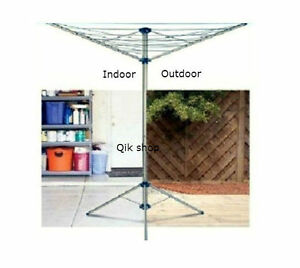rotary airer free standing indoor outdoor 15m 3arms. Black Bedroom Furniture Sets. Home Design Ideas