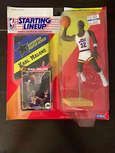Karl Malone Utah Jazz 1992 Kenner SLU Starting Line Up Figure MIP