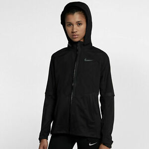 6f15809a88ff Image is loading Womens-Nike-Aeroshield-Running-Jacket-Hooded-Wind- Waterproof-