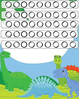 Children's Dinosaur Reward Chart c//w The Good Dinosaurs Stickers A5 Print