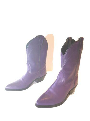 Womens Laredo Cowboy Boots Purple 7 1/2 M
