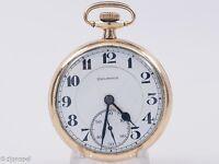 Antique Burlington Watch Co 21j 16s Adjusted Pocket Watch in Burlington Case!