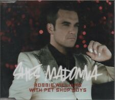 ROBBIE WILLIAMS With PET SHOP BOYS She's Modonna  2 TRACK CD