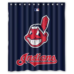 "New Cleveland Baseball Custom Waterproof Shower Curtain 60 x 72/"""