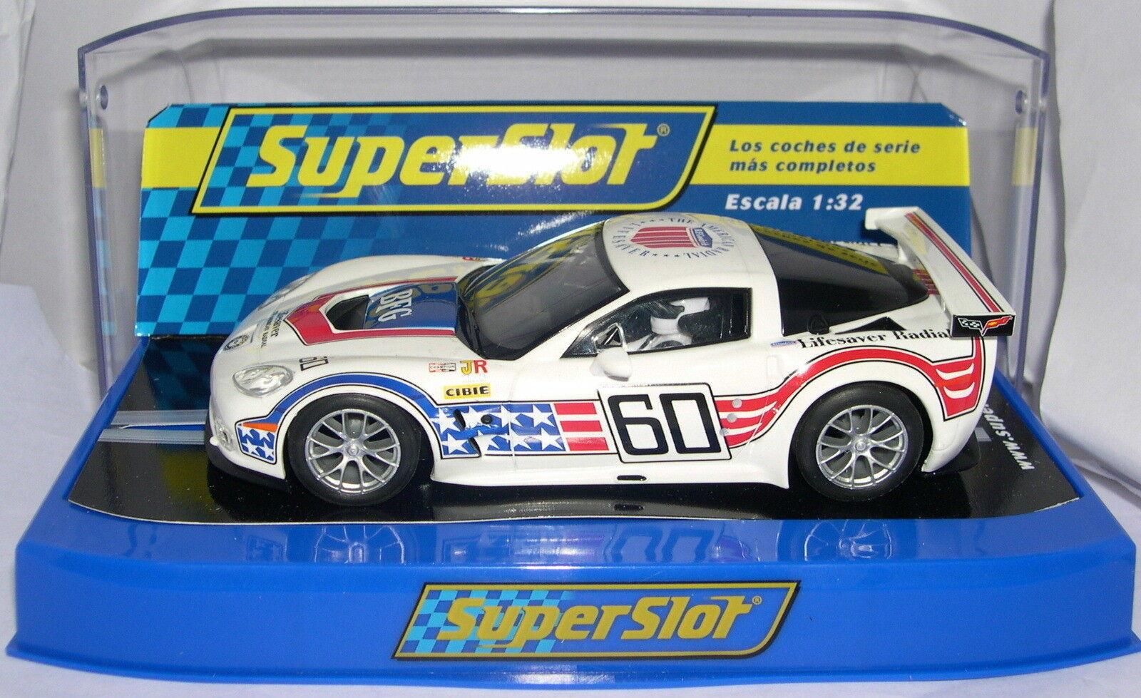 SUPERSLOT S3151 CHEVROLET CORVETTE C6R GT2 60 ANNIVERSAIRE SCALEXTRIC RU MB