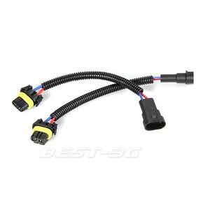 2 x 9005 hb3 extension adapter wiring harness sockets wire for image is loading 2 x 9005 hb3 extension adapter wiring harness