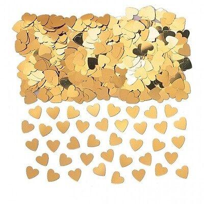 Gold Sparkle Heart Wedding Confetti Table Decoration
