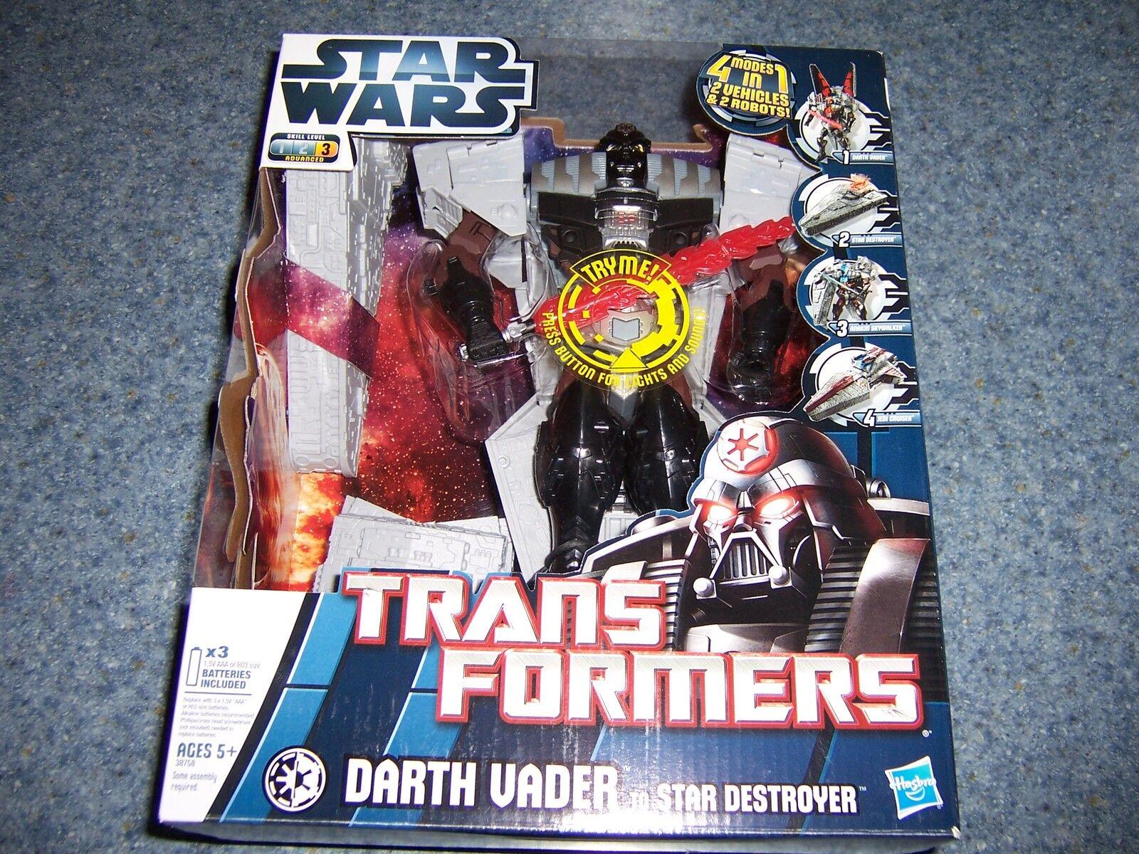 NIB Star Wars Transformers DARTH VADER To Star Destroyer ANAKIN To Jedi Cruiser