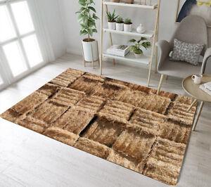 Details zu Fall Harvest Stacked Hay Bales Area Rugs Bedroom Carpet Living  Room Floor Mat