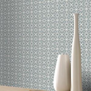 Papel-Pintado-Rasch-De-Lujo-Retro-Geometrico-Estampado-Blanco-y-gris