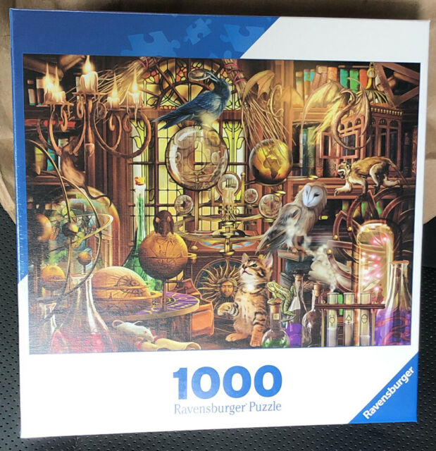 """Ravensburger  """"Magician's Study"""" 1000 Piece Jigsaw Puzzle New! Free Shipping!"""