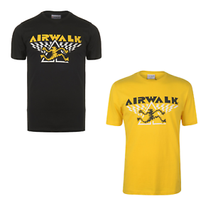 Airwalk T-shirt Herren Tshirt T Shirt Kurzarm Top Running Man 3713