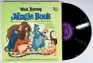 Disney-The-Jungle-Book-1967-Vinyl-LP-BOOK-Soundtrack-Bare-Necessities